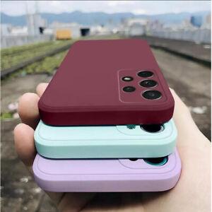 For Samsung S21 Ultra S20 FE S10 A32 A52 A42 A72 A51 Liquid Silicone Case Cover