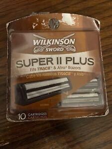 NOS 10 pack WILKINSON SWORD SUPER II PLUS Razor Blade Cartridges, TRAC II, ALTA