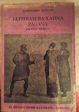 Ronconi - Letteratura Latina e Pagana PROFILO STORICO sansoni
