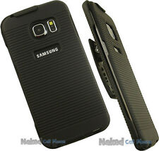NEW BLACK CASE COVER + BELT CLIP HOLSTER STAND FOR SAMSUNG GALAXY S6 E