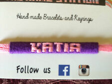KATIA woven bracelet. Purple and pink. New.