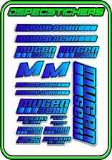 MUGEN SEIKI RC STICKER SHEET 1/8 BUGGY 1/10 CAR MTX6R MBX7R MRX6 GT ECO BLUE BLE