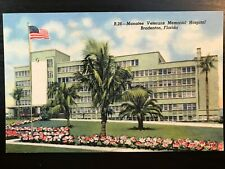 Vintage Postcard>1953>Manat ee Veterans Memorial Hospital>Bradenton> Florida