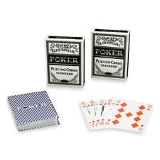 2 Poker-Kartendecks aus 100% Kunststoff Casino-Deck Spielkarten 54 Blatt je Deck