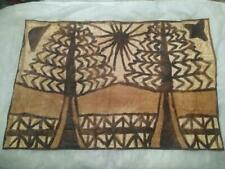 Vintage, Tonga Island Bark Cloth, Authentic Polynesian Tapa Art 19� x 12.5�