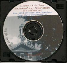 Chowan County NC - History & Genealogy
