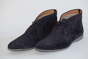 HUGO BOSS Desert Boots, Model Sorion, Size 43 / US 10, Made in Italy, Dark Blue
