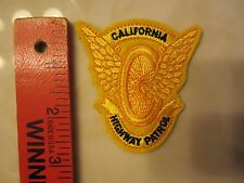 CALIFORNIA HIGHWAY PATROL MOTORCYCLE PATCH