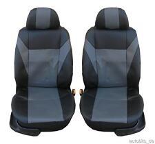 2 vordere Sitzbezug Sitzbezüge Schonbezüge Leder Grau für Alfa Romeo Audi BMW
