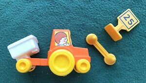 vintage 1980 Gabriel CBS Toys Dump truck with 2 other pieces sign cone orange
