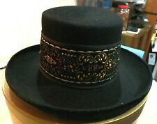Women's Beautiful Slightly Used Made in Austria Black 100% Furfelt Hat