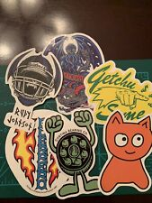 Lot Of 6 Skate Skateboard Stickers Laptop Cell Phone Decal Cb