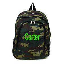 Free Monogram Name Army Camo LARGE SCHOOL BOOK BAG BACKPACK!