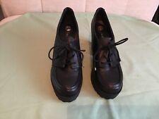 """Señoras Negras Talla 5 Zapatos de plataforma de River Island-Tacón 4"""""""