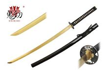 Onikiri Full Tang Gold Blade Japanese Katana Sword with Warrior Tsuba