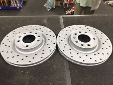 FOR VAUXHALL CORSA VXR NURBURGRING CROSS DRILLED FRONT BRAKE DISC PAIR