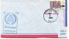 FFC 1984 First Flight Delta Air Lines Richmond Virginia US Postal Service