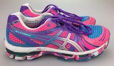 Asics Gel Kayano 18 Rainbow Colors Women's 9 40.5 Running Shoes Pink Purple Blue