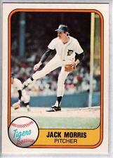 JACK MORRIS 1981 Fleer #475