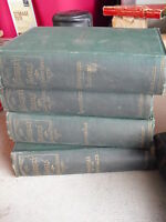 Lot of 4 1880s Books Waverly Novels Sir Walter Scott Novels