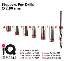 Drill Stoppers 2.8mm. Dental Implant - implants.Surgery
