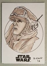 Star Wars Rogue One, Han Solo Sketch Card, Artist B. Kong 1/1