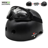 Adult Cycling Helmet+Goggles Skiing Skateboard Motorcycle Biker Gear Protector