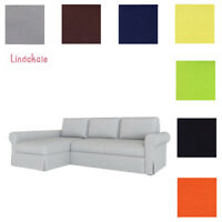 Custom Made Cover Fits IKEA Backabro Sofa Bed with Chaise Longue, Replace Cover