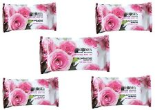 2/ 5/ 7/14 PACKS WET WIPES w/ ROSE OIL Make up remover, Cleanser FACE%7cBODY%7cHANDS