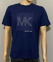 NWT Michael Kors Men's Logo Graphic Crew Tee Shirt Loungewear Navy Size L