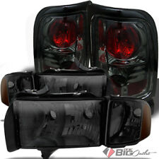 For 99-01 Ram 1500 Sport Only Smoked Headlights Corner Set + Altezza Tail Lights