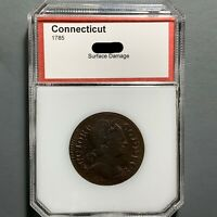 1785 1C Connecticut Penny, Colonial Copper Cent, Bust Right, PCI holder (51585)