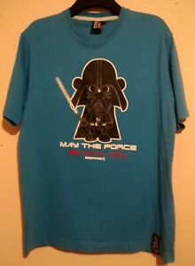 STAR WARS T SHIRT DARTH VADER OBSCENE CLOTHING MAY THE FORCE BE WITH YOU L SW DV
