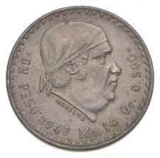 SILVER - WORLD Coin - 1947 Mexico 1 Peso - World Silver Coin *140