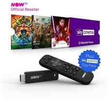 NOW TV Box Smart Stick with 2 month Sky Cinema Pass and Sky Sports Day Pass*****