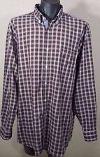 Men's 2XL NAUTICA Plaid Button Down Shirt Size XXL Long Sleeve ClassIc