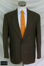 CONTEXT 42S Mens100% Wool Brown & Tan Houndstooth Tweed Sport Coat Patch Pockets