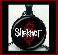 NEW - SLIPKNOT METAL MUSIC BAND BLACK CHAIN GLASS PENDANT NECKLACE
