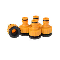 """5X ABS Garden Hose Water Pipe Connector Tube Fitting Tap Adapter 1/2"""" & 3/4"""" J&C"""