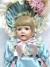 "World Gallery Patricia Loveless French Blue BoPeep #96 Blonde 22"" Porcelain Doll"
