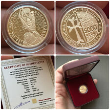 ARMENIAN 2016 GOLD COIN 5000 DRAMS VARDAN MAMIKONIAN - 1625 OFFICIAL ISSUED