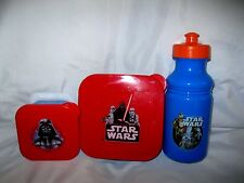 Star Wars Darth Vader Sandwich+Snack Containers +17oz. Pull Top Water Bottle-New