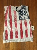 Joe's Jeans Girls American Flag Shirt Top Muscle T Sleeveless NEW NWT size 6