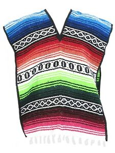 Kids Mexican Falsa Poncho Ages 8-12