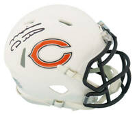 Mike Ditka Signed Chicago Bears Flat White Matte Riddell Speed Mini Helmet - SS