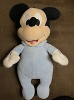 Disney Babies Plush Mickey Mouse 12 Inches Baby Blue EUC Free Shipping
