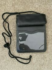 Faux Leather ID Badge Card Holder Lanyard Card Case Business Organizer