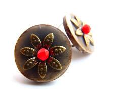 Ohrringe Ohrhänger aus Bronze mit Perle und Cocos Holzschmuck ,von Catia Levy