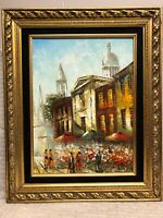 Rene Caron Framed Oil Painting - 12 x 16 is painting - frame is 17.5 x 21.5