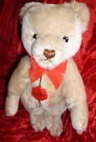 VINTAGE TEDDY BEAR WHITE BLONDE 13 IN HERMANN GROWLER ORIGINAL TEDDY W TAGS NICE